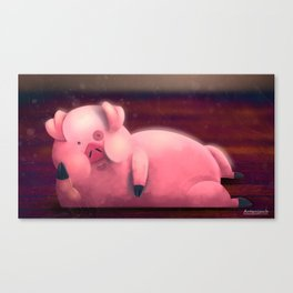 Waddles sexy party hard Canvas Print