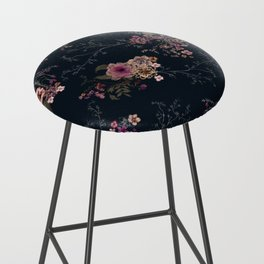 Japanese Boho Floral Bar Stool