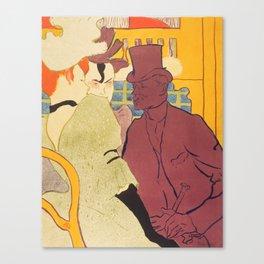 """Henri de Toulouse-Lautrec """"Flirt"""" Canvas Print"""