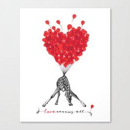 Love carries All! Canvas Print
