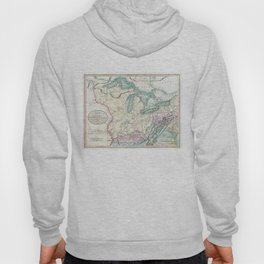 Vintage Map of The Great Lakes & Midwest (1801) Hoody