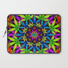 Stoners' Mandala Cannabis Leaves Laptop Sleeve