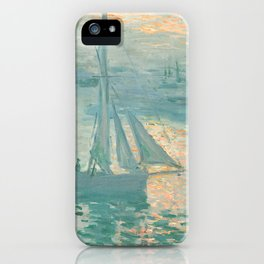 Claude Monet Marine Sunrise 1873 iPhone Case
