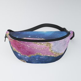 Pink Marble Galaxy Fanny Pack