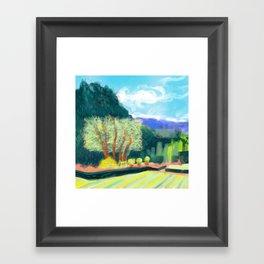 Filoli trees Framed Art Print