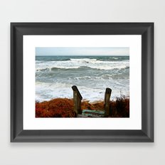 The Sea at the Stairs Framed Art Print