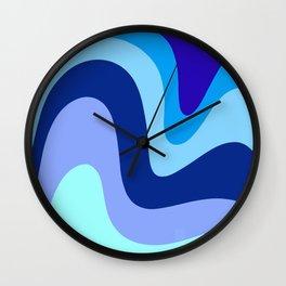 Retro Waves 1 (Blues) Wall Clock