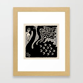 Black Swan 121 Framed Art Print