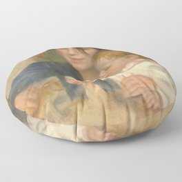 Gabrielle Renard and infant son, Jean Floor Pillow