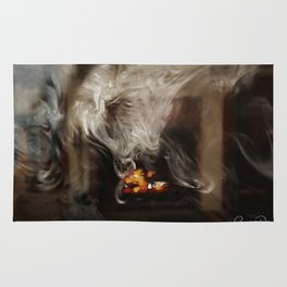 Painting with Smoke - The Lioness Rug