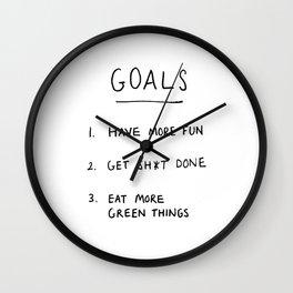 Goals Wall Clock