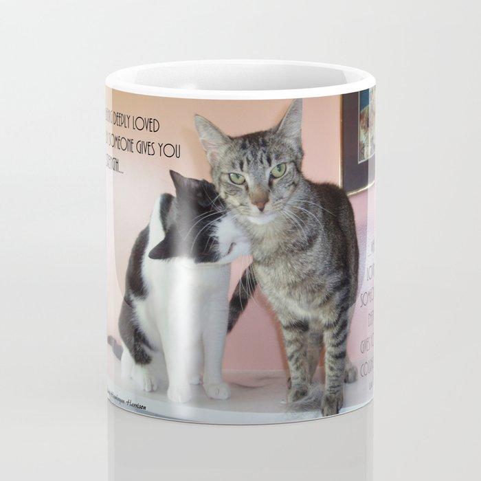 Love Gives Us Strength: Two Cats Coffee Mug