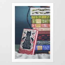 a modest pile of books Art Print