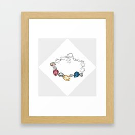 Brace Yourself in Watercolour Framed Art Print
