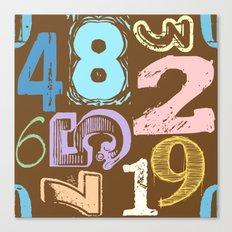 Numberology Canvas Print