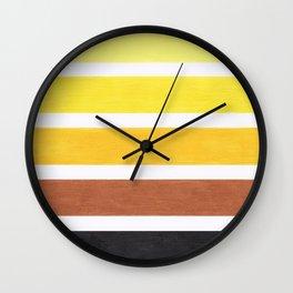 Colorful Yellow Geometric Pattern Wall Clock