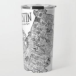 Austin Texas Illustrated Map Travel Mug