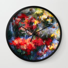 Fleuriste Wall Clock