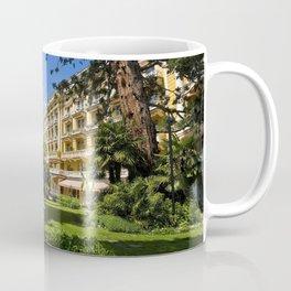Italy Palace Merano Bush Trees Cities Building Houses Shrubs Coffee Mug