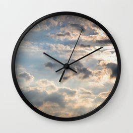 Among the Clouds - Sky Photography by Fluid Nature Wall Clock