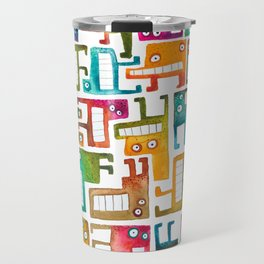 Tetris Monsters Travel Mug