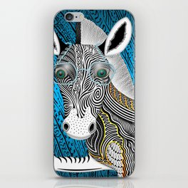 Portrait Of The Artist As A Young Zebra iPhone Skin