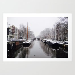 Winter in Amsterdam Art Print