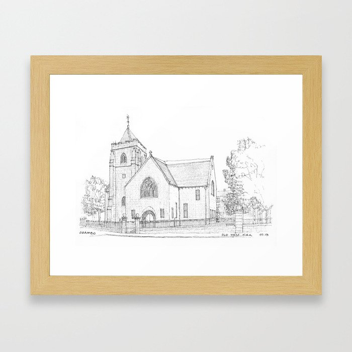 Old West Kirk Framed Art Print