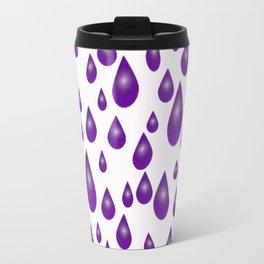 Purple Raindrops Travel Mug
