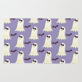 Halloween ghosts | Halloween Bats | Batcave | Purple pillows Rug