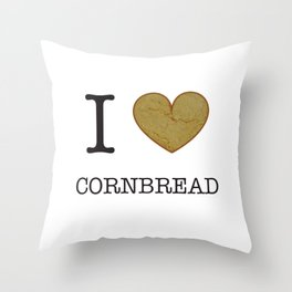 I Heart Cornbread Throw Pillow