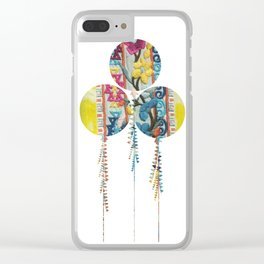 Balloons fabric Clear iPhone Case