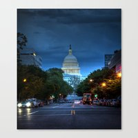 washington dc Canvas Prints featuring Washington, DC by ClintonBPhotography