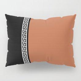 Greek Key 2 - Brown and Black Pillow Sham
