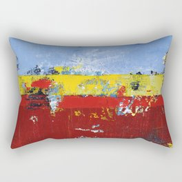 Deerfield Red Yellow Blue Abstract Art Primary Colors Rectangular Pillow