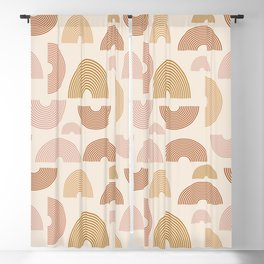 Earthy Desert Rainbow Pattern Blackout Curtain