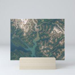 Juneau, Alaska and Taku Inlet Mini Art Print