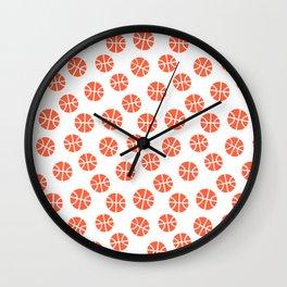 Basketball Pattern Wall Clock