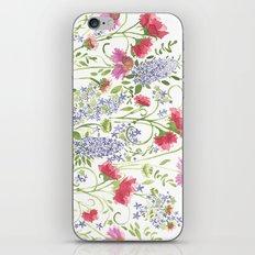 Flowering Meadow - Watercolor iPhone Skin