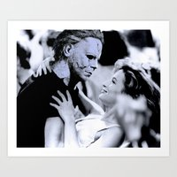 dirty dancing Art Prints featuring MICHAEL MYERS IN DIRTY DANCING by Luigi Tarini