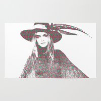 cara delevingne Area & Throw Rugs featuring Cara Delevingne: Issa by fashionistheonlycure
