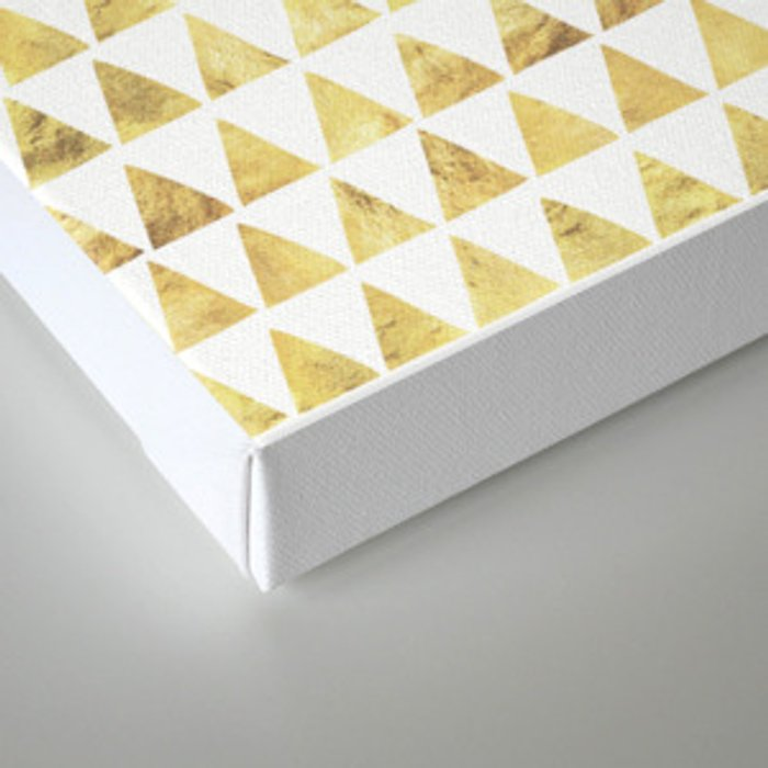 Triangles gold 6 Canvas Print