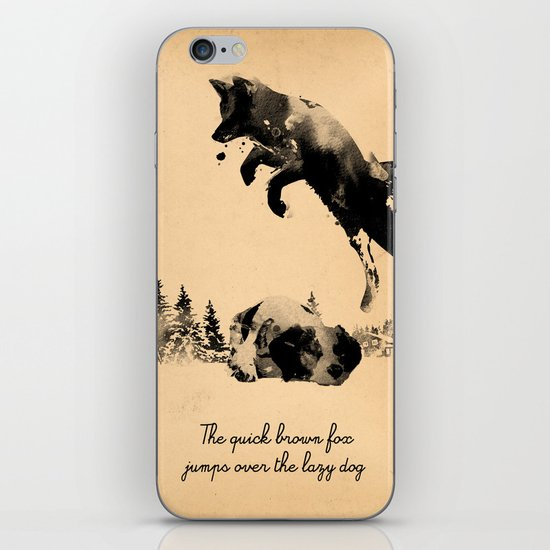 The quick brown fox jumps over the lazy dog iPhone & iPod Skin