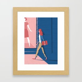 Shop window Framed Art Print