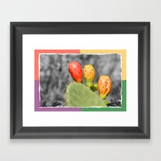 Three Spiky Ones Framed Art Print