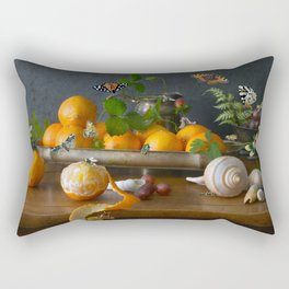Still Life with Clementines Rectangular Pillow