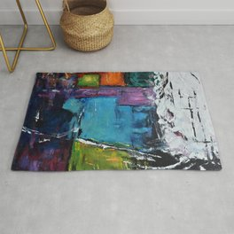 TETRIS, Abstract  Acrylic Painting, colorful mosaic Rug