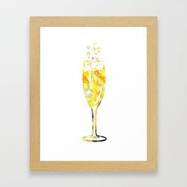 Glass of champagne Framed Art Print
