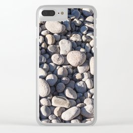 River stones on bank of Oregon river Clear iPhone Case