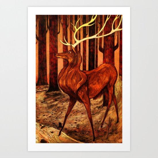 La Majesté du Cerf (The Proud Stag) Art Print